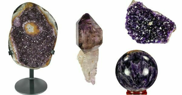 View Amethyst Crystal Clusters & Geodes For Sale