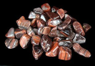 Bulk Polished Red Tiger Eye - 8oz. (~ 25pc.)