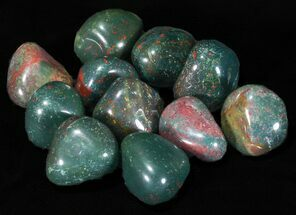 Bulk Polished Bloodstone (Heliotrope) - 8oz. (~ 20pc.)