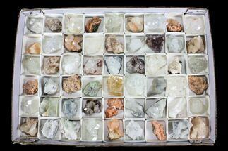Mixed Indian Mineral & Crystal Flats - 54 Pieces (Reduced Price)