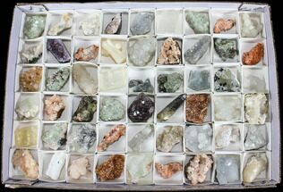 Mixed Indian Mineral & Crystal Flats - 54 Pieces