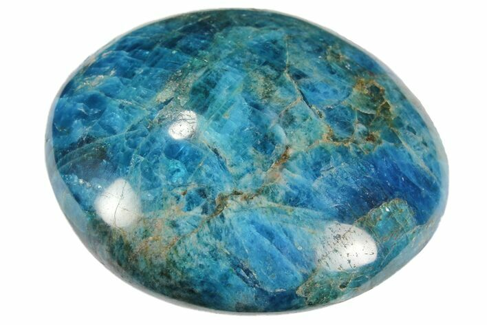 "2.5"" Blue Apatite Palm Stone - 1 Piece - Photo 1"