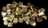 Tumbled Tiger's Eye - 1 LB (About 24 Pieces) - Photo 2
