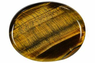 "2"" Polished Tiger's Eye Worry Stone"