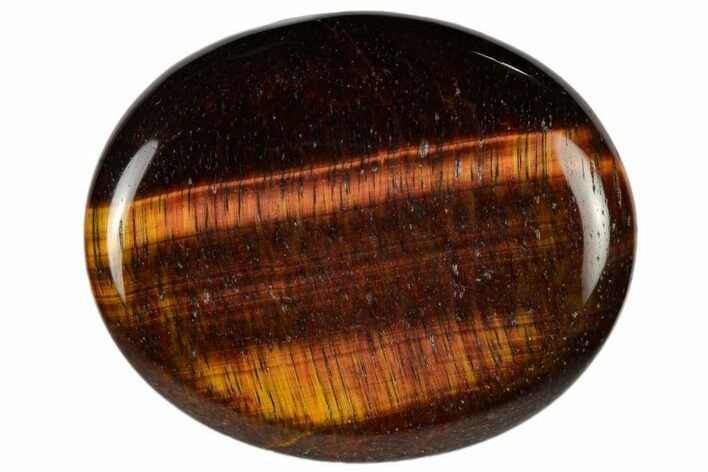 "2"" Polished Red Tiger's Eye Worry Stone  - Photo 1"