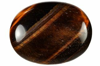 "1.8"" Polished Red Tiger's Eye Pocket Stone"
