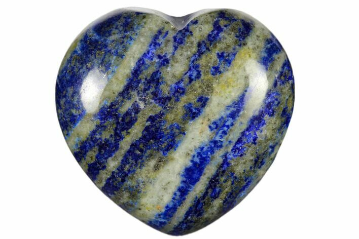 "1.6"" Polished Lapis Lazuli Heart - Photo 1"
