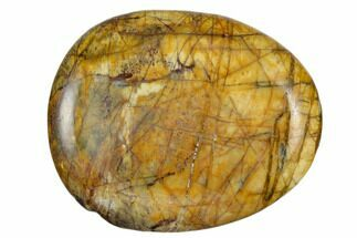 "1.8"" Polished Cherry Creek Jasper Worry Stone"