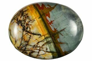 "1.8"" Polished Cherry Creek Jasper Pocket Stone"