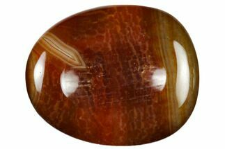 "2"" Polished Red Snakeskin Agate Worry Stone"
