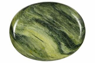 "1.8"" Polished Green Hair Jasper Worry Stone"