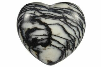 "1.6"" Polished Zebra Jasper Heart"