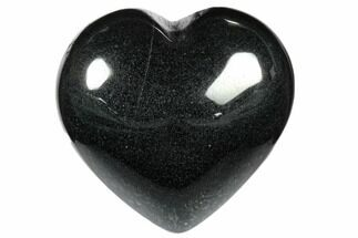 "1.4"" Polished Hematite Hearts"