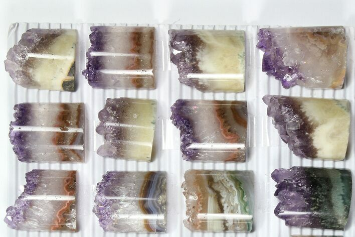 "1"" Polished Amethyst Half Cylinders (Cores) - Great For Pendants - Photo 1"