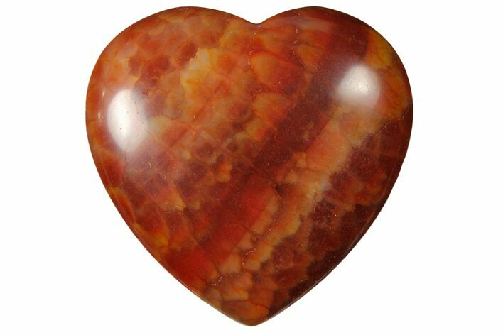 "1.6"" Polished Snakeskin Agate Heart - Photo 1"