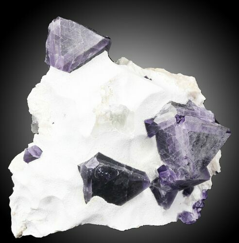 "2.9"" Fluorite on Aragonite & Quartz - China"