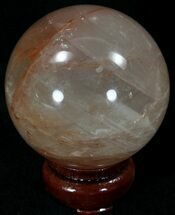 "2.59"" Polished Hematoid (Harlequin) Quartz Sphere For Sale, #32108"