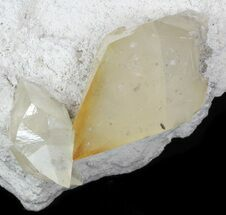 Gemmy, Twinned Calcite Crystals on Barite - Elmwood For Sale, #33806