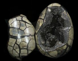 "8.7"" Septarian ""Dragon Egg"" Geode With Removable Section For Sale, #33722"
