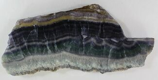 "8.1"" Polished Fluorite Slab - Purple & Green For Sale, #34844"