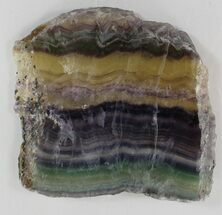 "4"" Polished Fluorite Slab - Purple, Green & Gold For Sale, #34850"