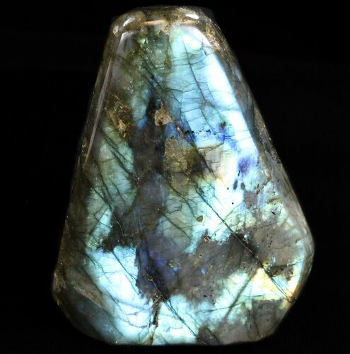 "3.6"" Flashy Polished Labradorite - Free-Standing"