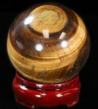 "Top Quality 2.5"" Polished Tiger's Eye Sphere For Sale, #37595"