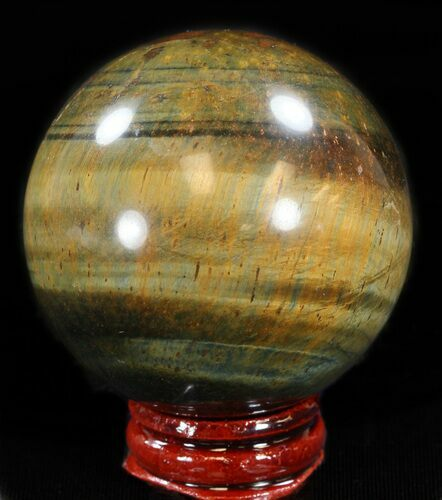 "Top Quality 2.2"" Polished Tiger Iron (Tiger's Eye) Sphere"