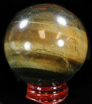 "Buy Top Quality 2.2"" Polished Tiger's Eye Sphere - #37687"