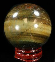 "Buy Top Quality 1.9"" Polished Tiger's Eye Sphere - #37693"