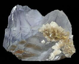 "2.2"" Fluorite Cube Cluster with Calcite Crystals- Pakistan For Sale, #38630"