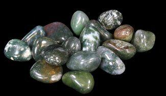 Bulk Polished Moss Agate - 8oz. (~ 20pc.) For Sale, #41621