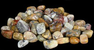Bulk Polished Botswana Pink Agate - 8oz. (~ 25pc.) For Sale, #41681