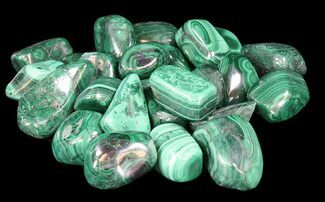 "Buy 1-2"" Polished Malachite Stones - Congo - #42295"