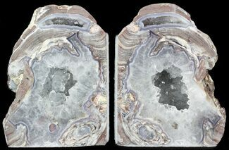 "4.6"" Dugway Geode Bookends - Sparking Crystals For Sale, #45938"