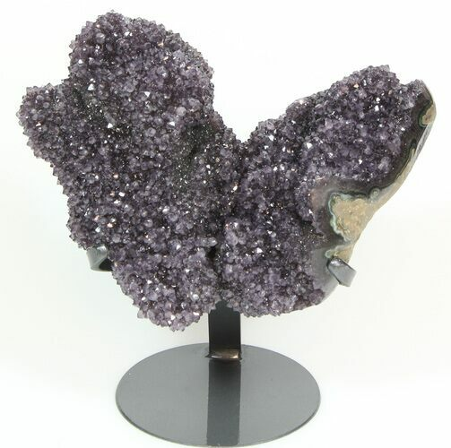 "11.9"" Unique Amethyst Formation On Metal Stand - Artigas, Uruguay"