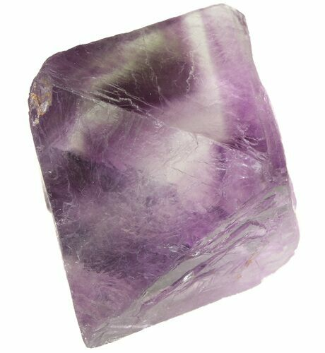 "1.71"" Fluorite Octahedral Crystal - Banded Purple/Translucent"