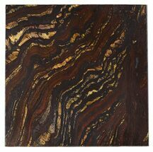 "4"" Tiger Iron Stromatolite ""Shower Tile"" - 2.7 Billion Years Old For Sale, #48782"