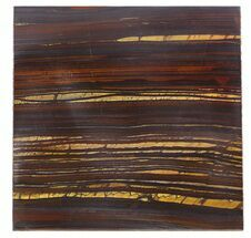 "Buy 4"" Tiger Iron Stromatolite ""Shower Tile"" - 2.7 Billion Years Old - #48784"