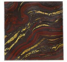 "4"" Tiger Iron Stromatolite ""Shower Tile"" - 2.7 Billion Years Old For Sale, #48809"