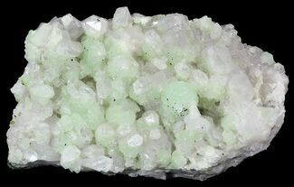 "4.45"" Prehnite & Babingtonite On Quartz Crystals - Qiaojia, China  For Sale, #33443"