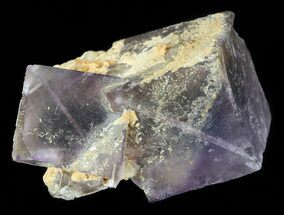 "1.6"" Purple, Cubic Fluorite with Calcite - Pakistan For Sale, #38648"
