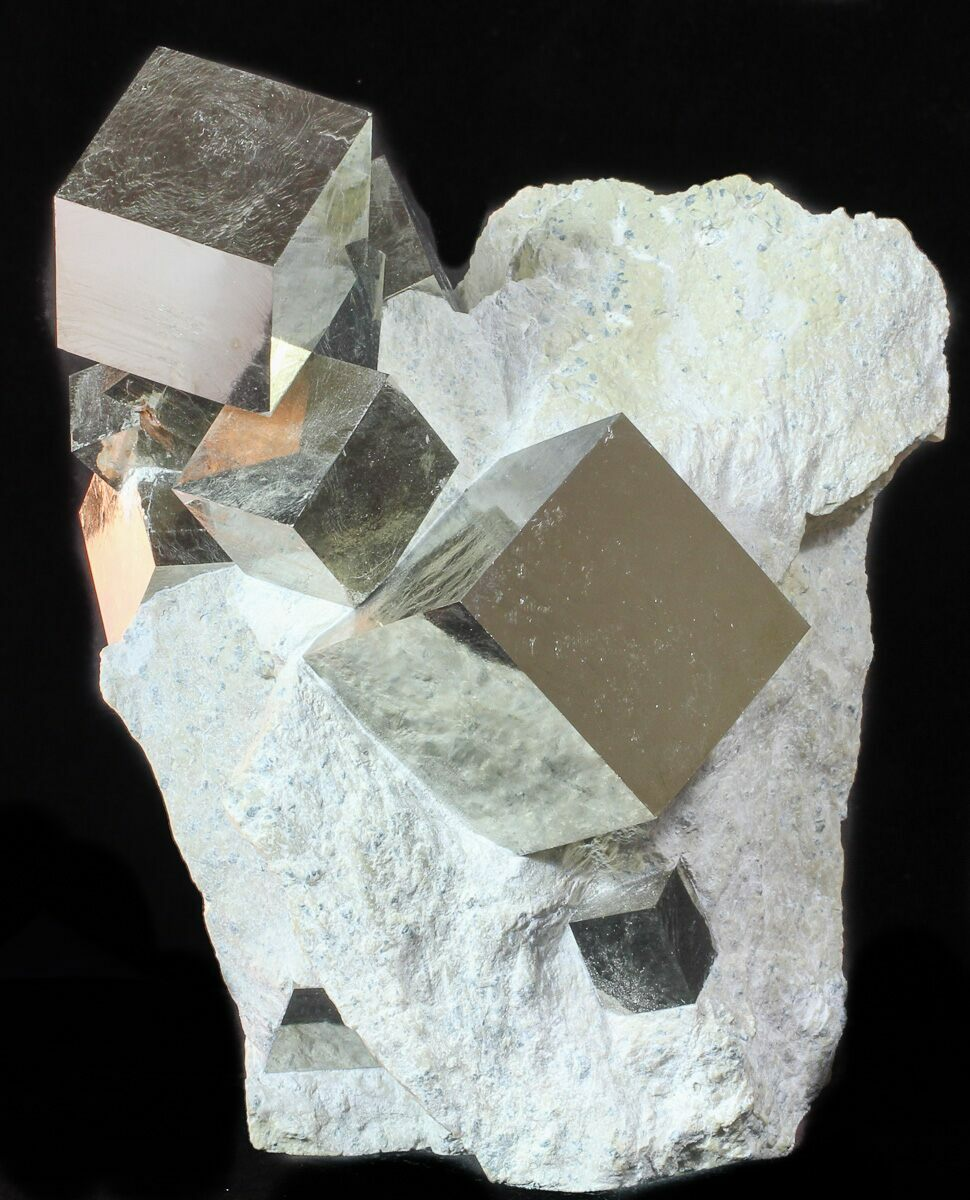 Museum Quality Pyrite Cube Cluster In Matrix - Spain