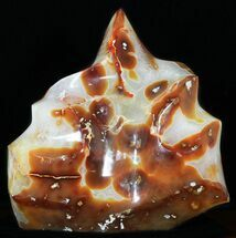 "12.5"" Tall, Vibrant Carnelian Agate ""Flame"" Sculpture For Sale, #50702"