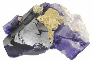 "6.1"" Octahedral Fluorite Crystal Cluster - China For Sale, #50771"