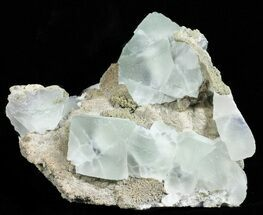 "3.6"" Blue, Translucent, Cubic Fluorite Cluster - China For Sale, #50780"