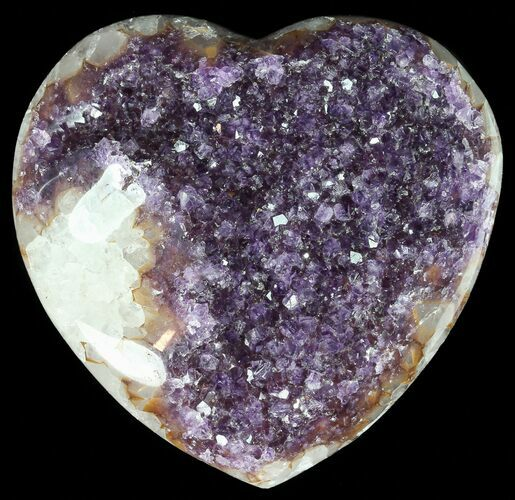 "4.2"" Purple Amethyst Crystal Heart - Uruguay"