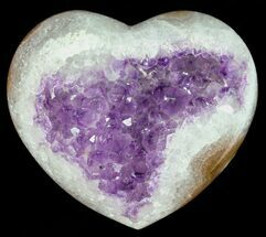 "Buy 3.2"" Purple Amethyst Crystal Heart - Uruguay - #50878"