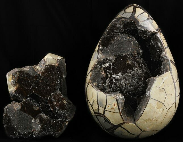 "11.8"" Septarian ""Dragon Egg"" Geode - Removable Piece"