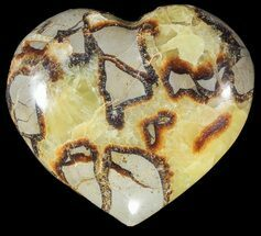 "3.9"" Polished Septarian ""Heart""  For Sale, #54689"